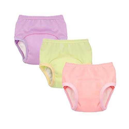 Waterproof Pants Training (smart sisi 2018 New Anti Leakage Training Pants for Babies, Toddler 6 Layers Potty Training Pants 3 Pack (120, Girls))