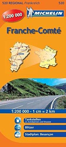 Michelin Franche-Comte: Straßen- und Tourismuskarte 1:200.000 (MICHELIN Regionalkarten, Band 520)