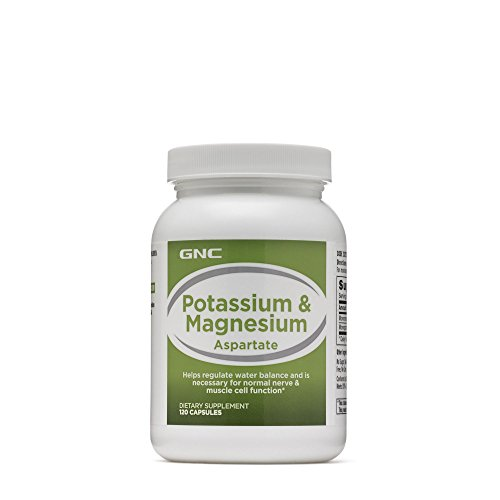 GNC Potassium Magnesium Aspartate Supplement, 120 Capsules, for Nerve and Muscle Cell Function