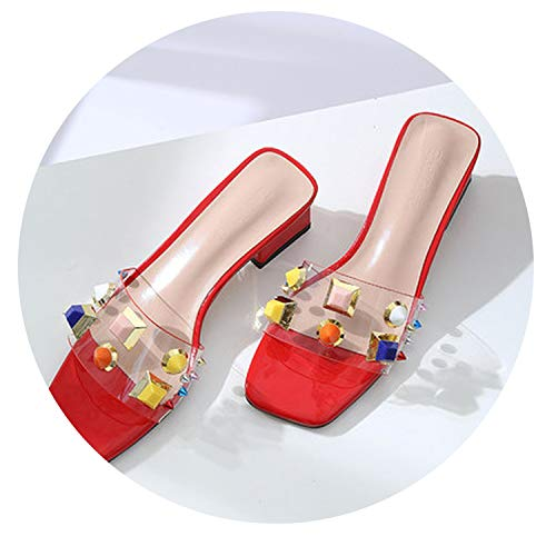 31c7f7ec2a0f4 Wild-lOVE Slippers Female New Korean Version of The Thick Transparent Sexy  high-Heeled Fashion Chic Sandals and Slippers,1,7