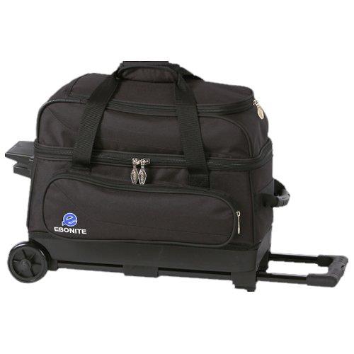 Ebonite Transport 2 Roller Bowling Bag- Black ()