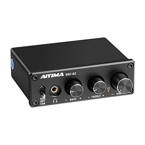 AIYIMA DAC-A2 DC5V Mini USB Powered DAC Audio Decoder Desktop Koptelefoonversterkers PC-USB / Coaxiaal /Optisch naar RCA…