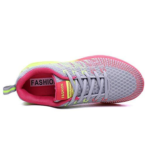 Mujer Asfalto Calzado Gris de Zapatillas Gimnasia Outdoor Mujer Running Transpirable Logobeing Deporte Zapatos Comodos Zapatillas qAw67ExPxS