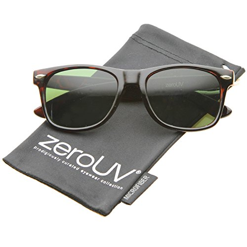 zeroUV - Classic Eyewear Iconic 80's Retro Large Horn Rimmed Sunglasses 54mm (Tortoise / - Glasses Risky Business