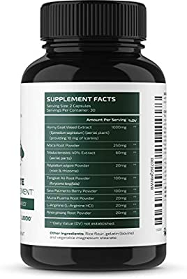 Nobi Nutrition Premium Male Enhancing Pills - Enlargement Booster for Men - Increase Size, Drive, Stamina & Endurance - 10X Strength & Fast Acting Supplement - 60 Capsules