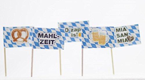 Kogler 07034 250 Pieces Bavaria Deco Picks in Showbox, Wood, Blue/White/Coloured