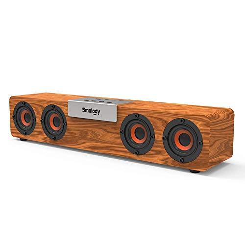 [해외]Bluetooth 5.0 스피커 PC 사운드 바 나무 무선 20W 2.0 ch 텔레비전 TVPC 해당 Soundbar Speaker 극장 바 USB AUX TF 카드 대응 고음질 일본어 설명서 / Bluetooth 5.0 Speaker PC Soundbar Wooden Wireless 20W 2.0ch TV TVPC Compatible Soundbar ...