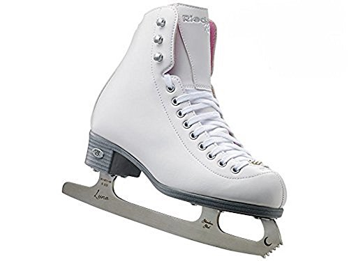 Riedell 14 Pearl / Kids Recreational Figure Ice Skates / Color: White / Size: - Figure Recreational Skates