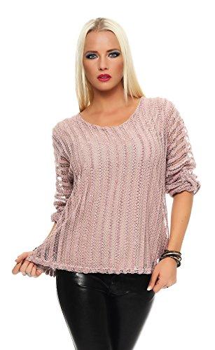 IKONA21 - Fashion Italy Damen Shirt Bluse Tunika Longshirt Onesize S M L XL 36 38 40 42 44 500 383