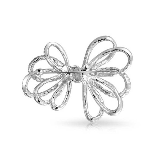 Bling Jewelry cadeaux ruban Bow éclat nuptiale broche Crystal Clear Gatsby inspiré