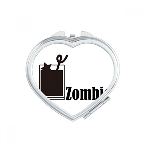 Zombie Cocktail With The Word Zombie Heart Compact Makeup Mirror Portable Cute Hand Pocket Mirrors Gift