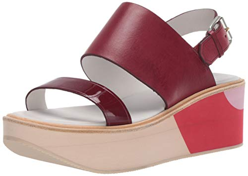 Paul Smith Bennet Pomerol Charol Patent/Maine Liscio, Red, 38 (US Women's 7) M - Paul Smith Shoes Women