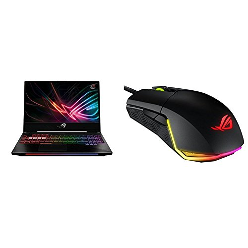 "ROG Strix Hero II Gaming Laptop GL504, 15.6"" 144Hz IPS-Type, GTX 1060 6GB, Intel Core i7-8750H (up to 3.9GHz), 256GB SSD + 1TB HDD, 16GB DDR4 + ASUS Pugio USB Wired Mouse Bundle"