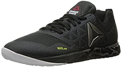 Reebok Men's Crossfit Nano 6.0 Cross-Trainer Shoe, Gravel/Black/White/Pewter, 7 M US