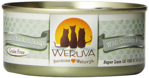 Weruva Classic Cat Food, Grandma's Chicken Soup with Chicken Breast & Veggies, 5.5oz Can (Pack of 24)