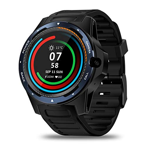 Smart Watch, Zeblaze Thor 5 Dual Systems 4G Smart Watch, Android 1.39 Inch 454454 Display, 8MP Front Camera, GPS WiFi 4G Smartwatch Heart Rate Monitor Compatible with iOS and Android,Blue