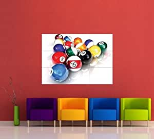 pool balls billiards table snooker giant poster x787 by giant panel posters. Black Bedroom Furniture Sets. Home Design Ideas