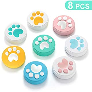 ANATYU 8Pcs Silicone Cover Cat Claw Design Thumb Grip Caps Soft for Joy-Con Controller Con Set Joystick Switch and Lite Analog Stick Grips