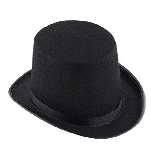 [Magic Hat, Toraway Black Hat Halloween Magician Magic Hat Jazz Hat] (Adult Pumpkin Halloween Costumes)