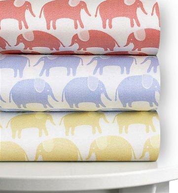 Magnolia Organics Elephant Printed Crib Sheet