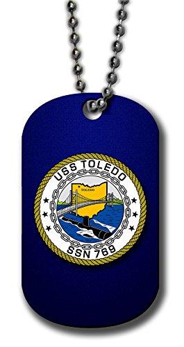 Aluminum Dog Tag Necklace and Key Ring - US Navy USS Toledo - 769 Us