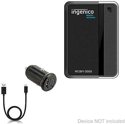 Ingenico Moby 3000 Cable BoxWave miniSync Retractable Portable Sync Cable for Ingenico Moby 3000