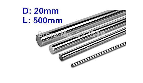Ochoos - 2 ejes lineales para impresora 3D, 20 mm, L500 mm ...