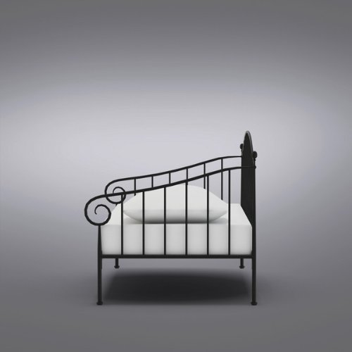 Kings Brand Matt Black Metal Twin Size Day Bed Daybed