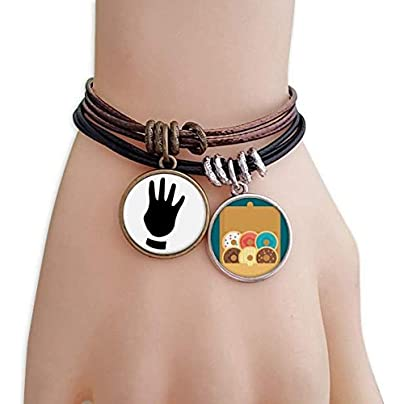 SeeParts Four Gesture Silhouette Pattern Bracelet Rope Doughnut Wristband Estimated Price £9.99 -