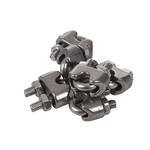 6 Pcs 304 Stainless Steel Saddle Clamp Cable Clip 3mm Wire