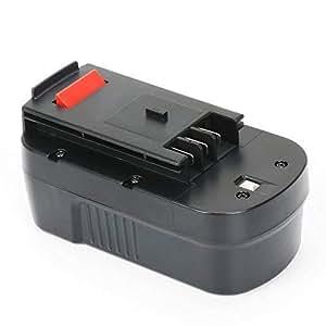 REEXBON 18V 3.0Ah Ni-Mh Bateria de Reemplazo Herramienta para Black Decker A18 A18E HPB18 HPB18-OPE 244760-00 A1718