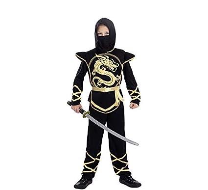 EUROCARNAVALES, SA Disfraz de Ninja Dorado para niño T-02 (7 ...