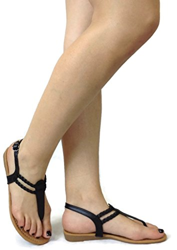 fashion-erica-t-strap-sandal-small-wedge-flat-strap-thong-black-8
