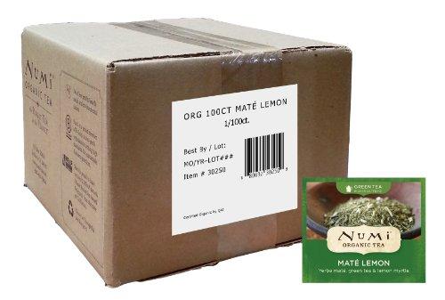 Yerba Green Mate Organic (Numi Organic Tea Mate Lemon, Yerba Mate, Green Tea and Lemon Myrtle, 100 Count non-GMO Bulk Tea Bags (Packaging May Vary) Non-GMO Biodegradable Tea Bags)