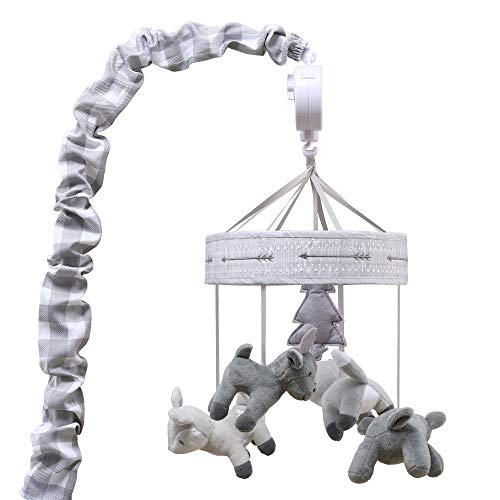 (Grey Woodland Animal Digital Musical Crib Mobile - Forest Dream Collection by The Peanut Shell )