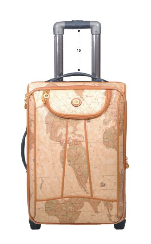 World map design 2 piece rolling luggage cosmetic train case set save gumiabroncs Gallery