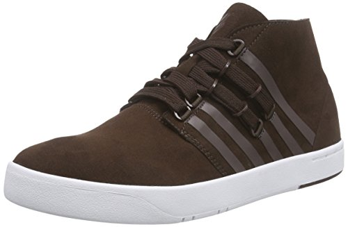 K-Swiss Dr Cinch Mens Lace Up Outdoors Chukka Boots Shoes Dark Chocolate Brown 9 US