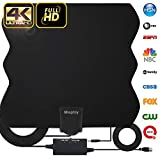 HDTV Antenna,TV Antenna for Digital TV Indoor 2019 Newest 4k TV Antenna 60-120 Miles Range with Amplifier Signal Booster for Free Local Channels