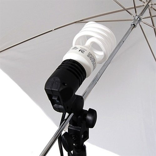 CowboyStudio Photo and Video Studio Umbrella Continuous Lighting Light Kit- 27 feet Stands, 1 Mini Stand and Carry Case by CowboyStudio (Image #1)
