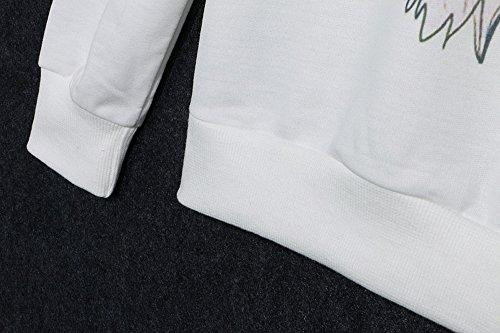 Women Cartoon Totoro Sweatshirt Long Sleeve T-shirt Round Neck Sweater  Pullover Shirt Tops