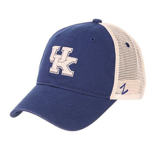 Ncaa Kentucky Wildcats Wildcat - Zephyr NCAA Relaxed Fit Vintage- University- Adjustable Trucker Hat Cap-Kentucky Wildcats