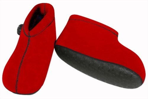 CLO'Z Yawaraka-Yutanpo Soft Hot-Water Bottle, For Feet, Sole Of Feet Included, Short-Type, Red, M: Up To 10.63'' (27Cm) by The Cloz Company