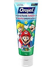 Orajel Anticavity Fluoride Toothpaste for Kids, Super Mario, 119-g