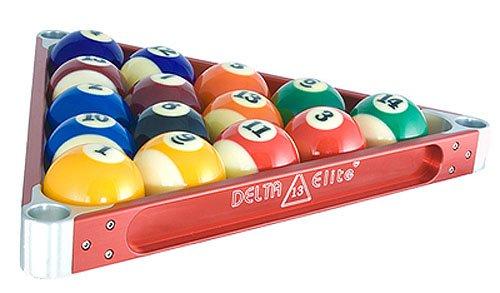 Delta-13 Elite Metal Pool Ball Rack - Red