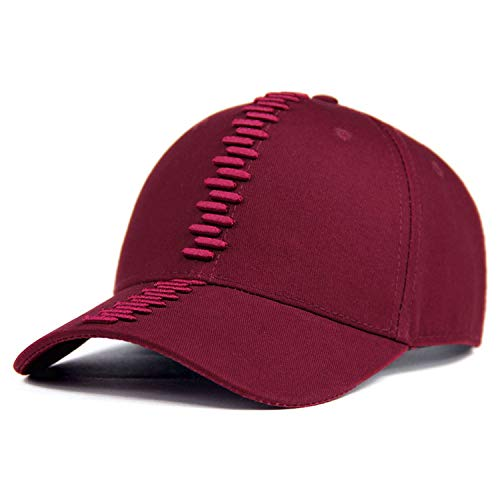 GordonKo Baseball Cap Men Dad Snapback Caps Women Hats for Men Embroidery Cap Hat Wine ()