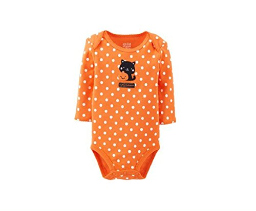 Embroidered Black Cat My First Halloween Baby Bodysuit Dress Up Outfit (3-6 -