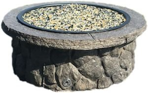 "Concrete Fire Pit & Seat Wall Form Liner - Boulder Face Short 14"" Tall"