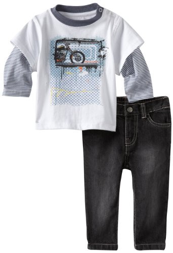 Kenneth Cole Baby Boys' Twofer Tee With Pant