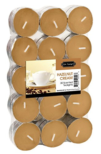 USA Tealight Hazelnut Cream Tealights, 30-Pack