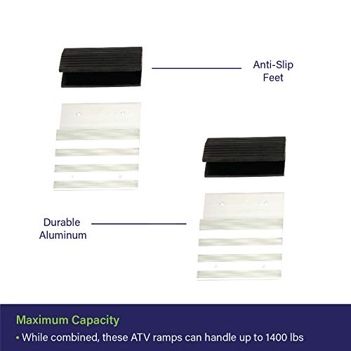 "Aluminum Ramp Kit Tailgate Ramp Kit Ramp Plate Kit 12/"" Inch Truck Ramp Brackets and Rubber Feet BISupply"